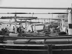 Al Khor Dhow (TravellingMiles) Tags: white black dhow