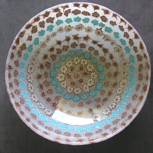 Shallow Brown & Turquoise Bowl
