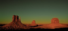 The Mittens, Monument Valley, Utah/Arizona, Down from the Visitor Center at the Navajo Tribal Park (Alex E. Proimos) Tags: park sunset arizona art nature sunrise dawn utah per