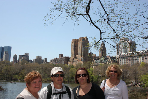 Sue, Pauline, Fiona and Lynne in Central Park