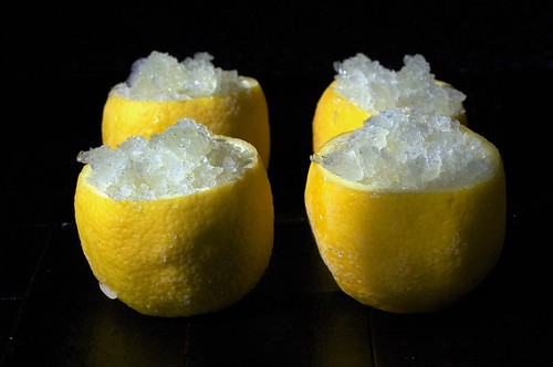 lemon mint granita