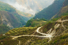 Where the Jeep Road Ends... (zachwass2000) Tags: road india mountain landscape song himalaya saung loharket pindariglacier pindarivalley utarrakhand utarranchal