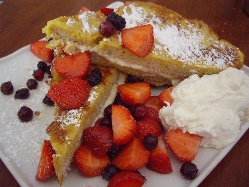Lemon Quark Stuffed French Toast with Fresh Berries