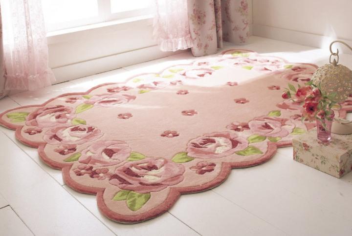 生活雑貨-玫瑰地毯