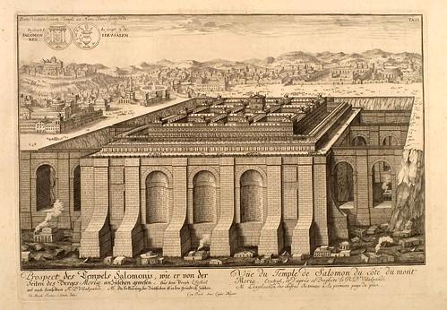 001- Vista del templo de Salomon desde el Monte Moria-Entwurf einer historischen Architektur 1721- © Universitätsbibliothek Heidelberg