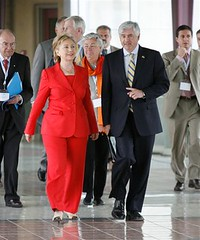 Hillary Rodham Clinton Secretary of State with Canadian Foreign Minister Cannon