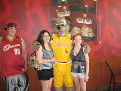 Some other guy, Danielle, Me and some other girl (Moondog Mascot) Tags: coldstone mentor moondog cavaliers 06232009