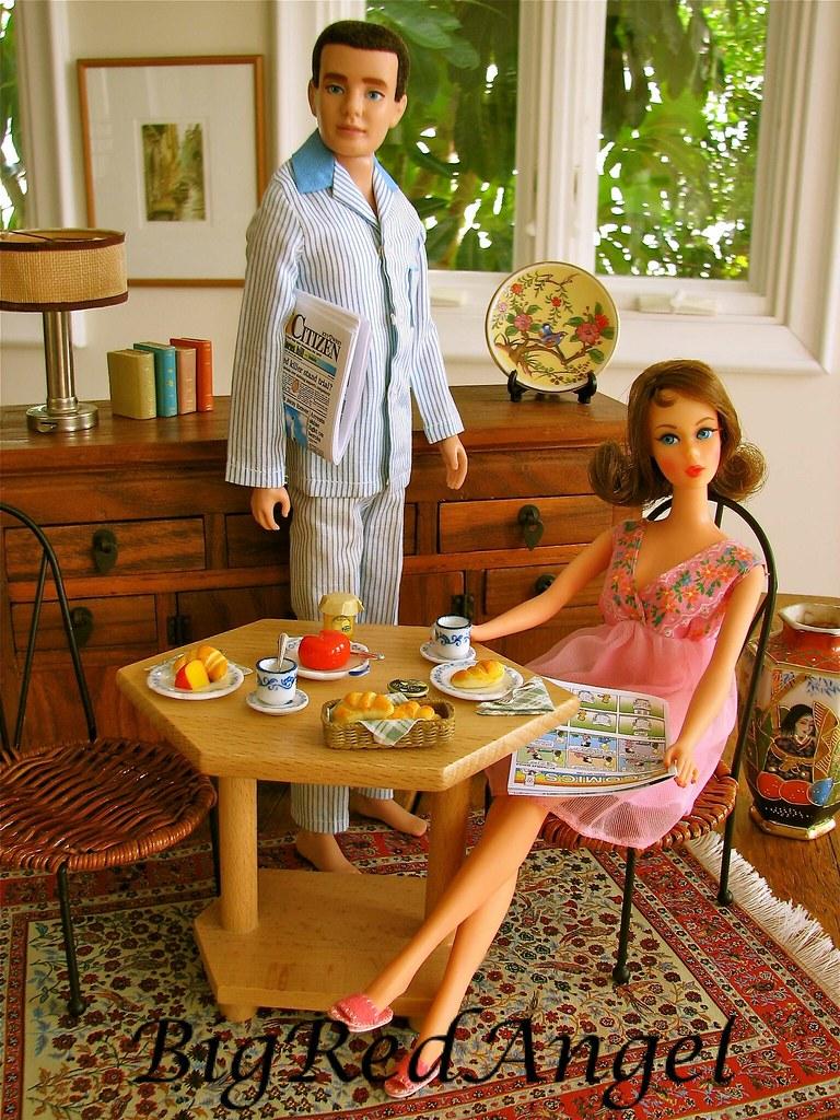 Vintage Barbie & Ken's Key West Breakfast