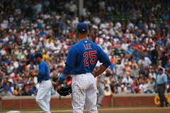 Play ball (mikepix) Tags: chicago baseball cleveland indians cubs wrigleyfield 2009 bullpinbox