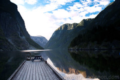 A romantic view in Norway (Grace Olsson Fotograf(Im abroad)) Tags: ocean travel sea sky nature water norway stone mirror reflect fjords scandinavian articcircle romanticview