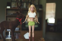 Sharpay   with Reindeer (Mike L2009) Tags: hot sexy fashion actionfigure barbie teen miniskirt highschoolmusical sharpay