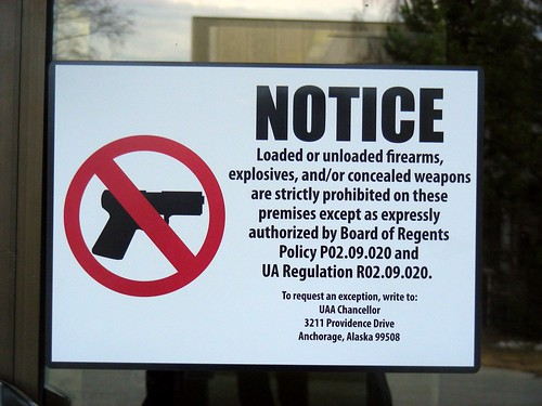 UA no firearms policy