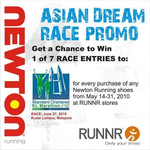 newton running asian dream promo