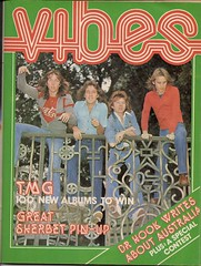 Vibes, July 1977 (glen.h) Tags: men vintage teens bands 70s vibes magazines 1970s seventies tmg heartthrobs tedmulrygang australianwomensweekly