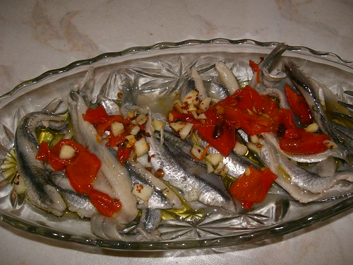 marinated gavros anchovy