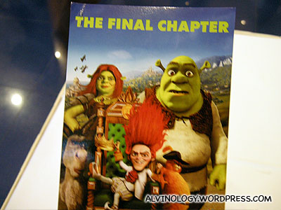 My Shrek Forever After preview ticket