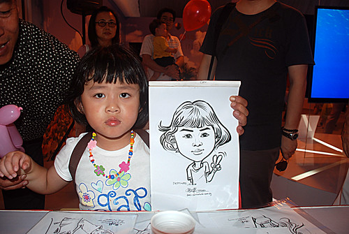 caricature live sketching for LG Infinia Roadshow - day 1 - 24