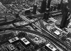 (Flo Fairweather) Tags: white black film high dubai view angle khalifa 400 roads ilford burj infrastrusture