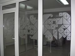Model geometric (WallSticker.ro) Tags: mat transparent wallsticker argintiu sablat