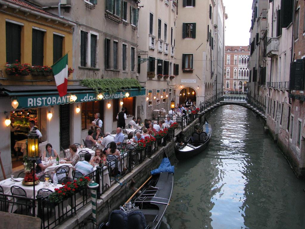 Scenes from an Italian Restaurant - Venice - Italy