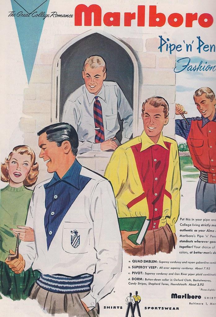 Mens College Fashion Ad 1951