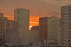 The Huntington (Sbaros) Tags: sanfrancisco sunset sky orange skyline hotel huntington top20flickrskylines