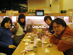 Out for sushi with my host family (jrkester) Tags: japan hirosaki 2009