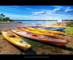 Kayak Me Some Colours :: HDR (:: Artie | Photography :: Happy 2016 !) Tags: park sky lake water clouds photoshop canon rainbow colorful kayak cs2 rental australia wideangle adventure canoes handheld adelaide sa colourful dagger 1020mm tours southaustralia hdr hire artie gardenisland 3xp sigmalens photomatix tonemapping tonemap 400d rebelxti adventurekayak congratsonfpiknewyoucoulddoit