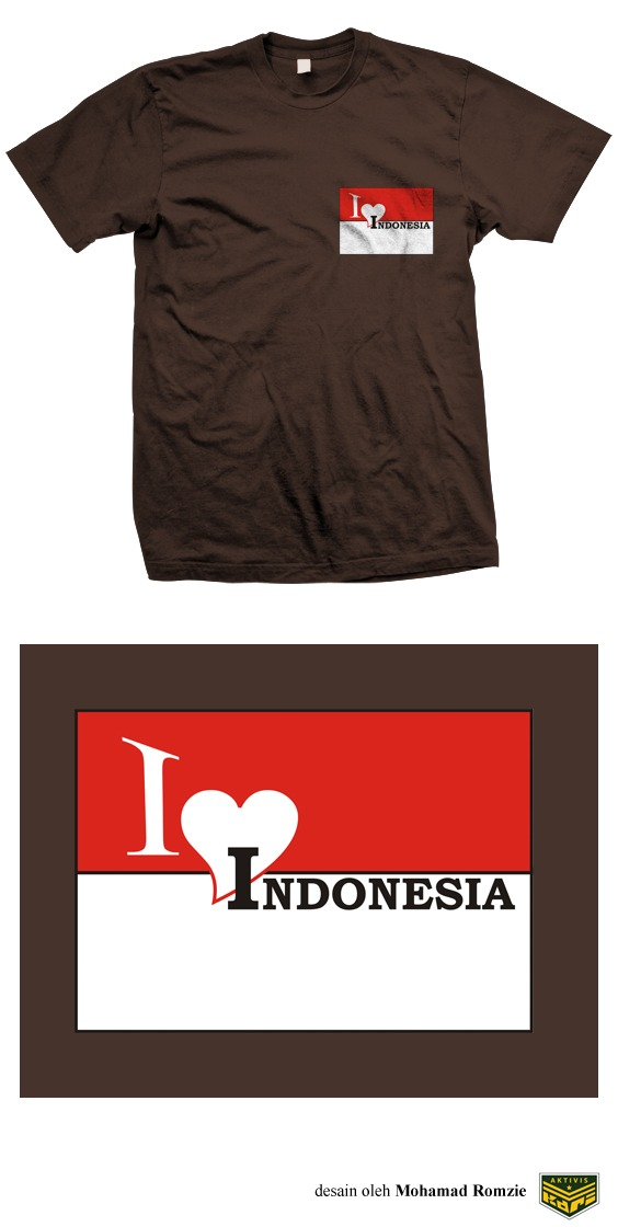 kaos Love Indonesia