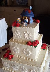 (Nothing But...) Tags: wedding cute cake groom bride smurfs topper