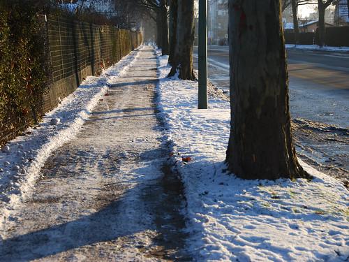 I love Germany... cleared sidewalks