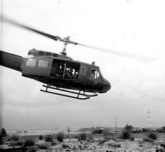 Where are you going, my blue eyed sons? Vietnam, 1971 (spysgrandson) Tags: blackandwhite 1971 chopper war vietnam helicopter peacesign nam instamatic spysgrandson