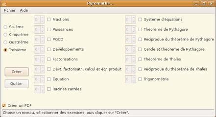 Pyromaths Ubuntu