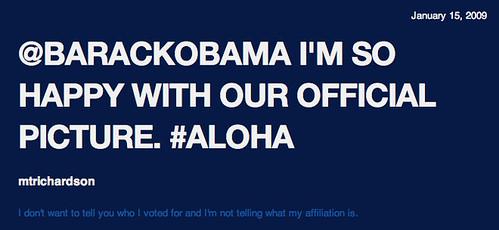 @barackobama I'm so happy with ... - Public Sentiment