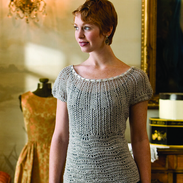 Cap Sleeve Blouse, french girl knits