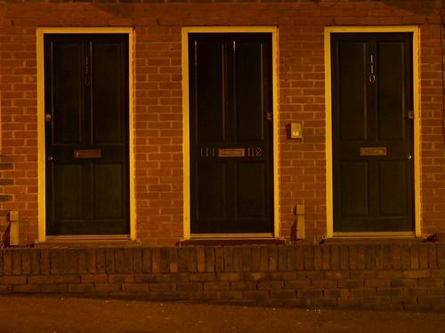 Three Doors at Night