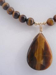 Golden brown tiger eye
