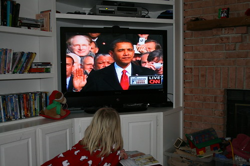 my 6 year old was the most into watching orock obama as