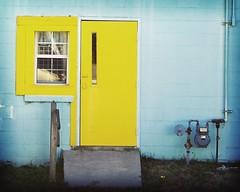 welcome home (rod lewis) Tags: door wood window grass electric ramp rail frame block meter cinderblock electricmeter mywinners