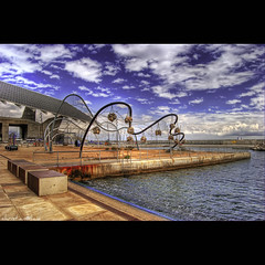 Playground (christian&alicia) Tags: barcelona sea sky beach playground clouds mar nikon forum cel catalonia catalunya parc hdr platja nuvols catalogne mediterrani fotovoltaica d40x goldstaraward artistictreasurechest tumiqualityphotography
