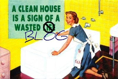 A Clean House is a Sign of a Wasted Blog