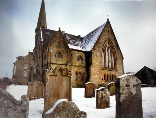Pinhole image Barony church West Kilbride 05Feb09