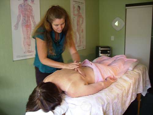 Charlotte Stuart treating an acupuncture by Wonderlane, on Flickr