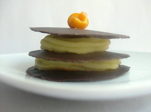 Millefoglie di cioccolato alla crema d'arancia