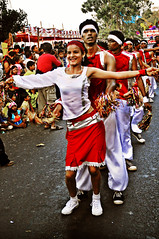 Red and White Dancers - Goa 2009 Carnival (Anoop Negi) Tags: goa carnival panjim panaji india tourism festival ezee123 2009 dancing singing swaying hip movement arms outstreched red white young girl biy boys girls heritageinstituteofhotelmanagement amazing gorgeous exotic indian culture traditions color hues human men women people travel essay journey photo best photograph picture journalism place world for photography tradition colour photos photosof image images imagesof anoopnegi bestphotographer delhi mumbai bangalore portrait jjournalism creative media po