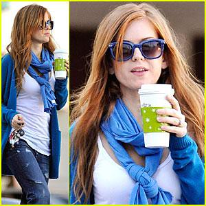 Isla Fisher drinks coffee by Jeff Houck