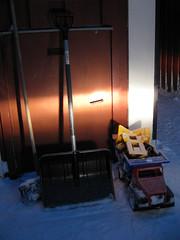 light (Skapande) Tags: vinter spade ljus lastbil