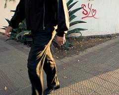 1141 (Gian Franco Costa Albertini) Tags: plant planta corner person persona walk doodle esquina 2009 suelo rayado