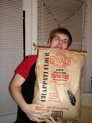 Potluck 4: Andy vs. the 20 lb bag of Chappati Flour (sarahbest) Tags: andy flour indiancuisine potluck indianfood freshmarket swad chappati alooparatha patelbrothers potluck4 durumattaflour indianbaking