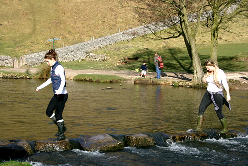Cowie and Anna stepping stones